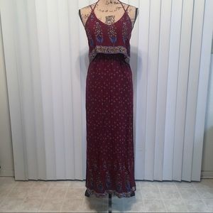 Floral Maroon Dress